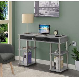 Designs2Go Gray Office Desk