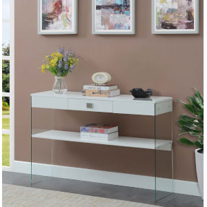 SoHo White Single Drawer Console Table