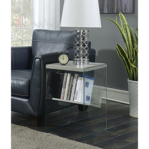 SoHo Faux Birch End Table