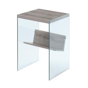 Soho Sandstone Glass End Table
