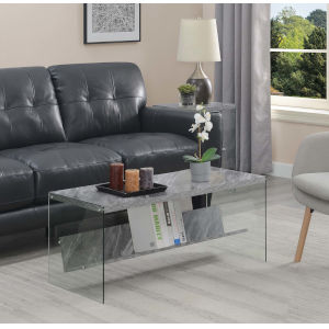 Soho Gray Marble Accent Coffee Table