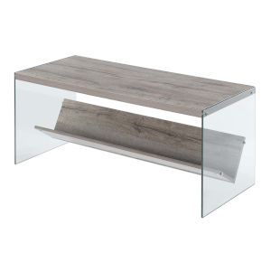 Soho Sandstone Glass Coffee Table