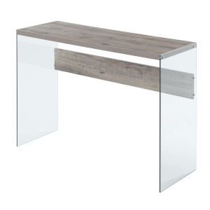 Soho Sandstone Glass Console Table