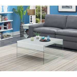 SoHo White 32-Inch Square Coffee Table