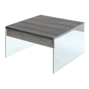 SoHo Weathered Gray Square Coffee Table