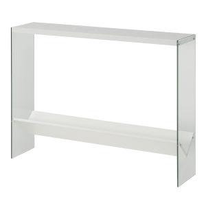 SoHo White Console Table with Shelf