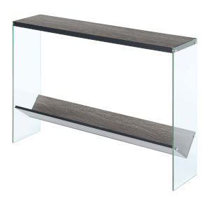 SoHo Weathered Gray V Console Table