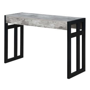 Monterey Faux Birch Black Frame Console Table