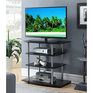 Designs2Go Black No Tools Highboy TV Stand