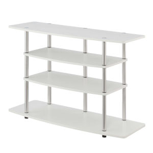 Design2Go White 42-Inch TV Stand