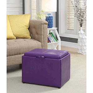Designs4Comfort Purple Accent Storage Ottoman