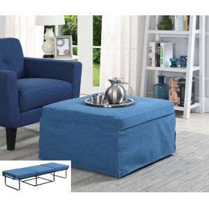 Designs4Comfort Blue Folding Bed Ottoman