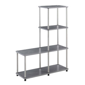 Designs2Go Gray L Shaped Bookshelf