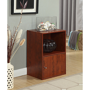 XTRA-Storage Cherry One Door Cabinet