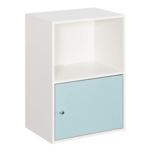 White and Sea Foam 24-Inch Xtra Storage One Door Cabinet
