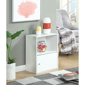 XTRA-Storage White One Door Cabinet