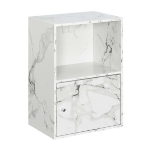 White Marble 24-Inch Xtra Storage One Door Cabinet