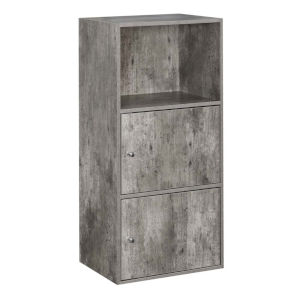 Faux Birch 35-Inch Xtra Storage Two Door Cabinet