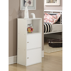 XTRA-Storage White Two Door Cabinet