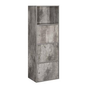 Faux Birch 47-Inch Xtra Storage Three Door Cabinet