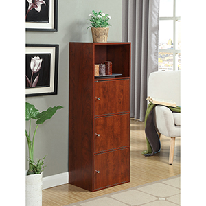 XTRA-Storage Cherry Three Door Cabinet