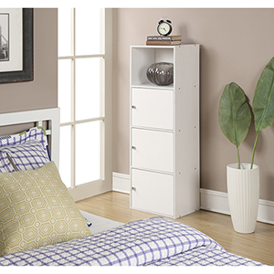 XTRA-Storage White Three Door Cabinet