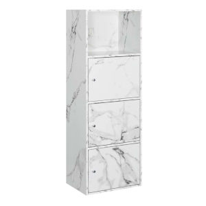 White Marble 47-Inch Xtra Storage Three Door Cabinet
