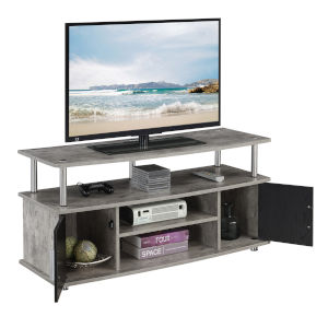Design2Go Faux Birch and Black TV Stand