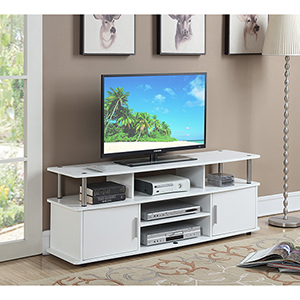 Designs2Go White 60-Inch Monterey TV Stand