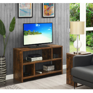 Northfield Barnwood TV Stand Console with Shelves