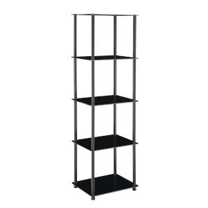 Designs2Go Classic Black Five-Tier Tower
