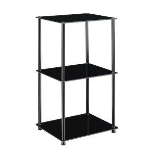 Designs2Go Classic Black Three-Tier Bookshelf