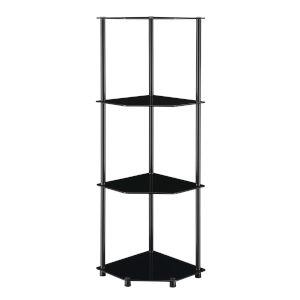 Designs2Go Classic Black Four-Tier Corner Shelf
