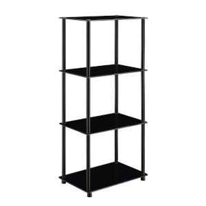 Designs2Go Classic Black Four-Tier Shelf