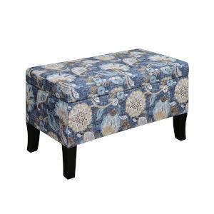Designs 4 Comfort Indigo Flora Winslow Storage Ottoman