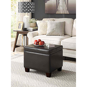 Designs4Comfort Espresso Madison Storage Ottoman