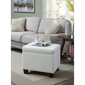 Designs4Comfort White Madison Storage Ottoman