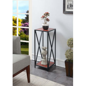 Tucson Cherry and Black 13-Inch Plant Stand