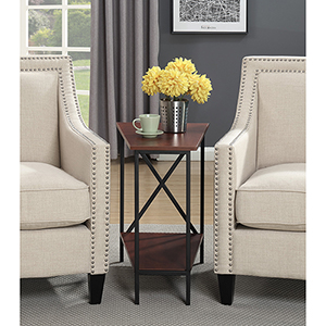 Tucson Wedge Black and Cherry End Table