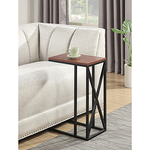 Tucson C Cherry and Black End Table