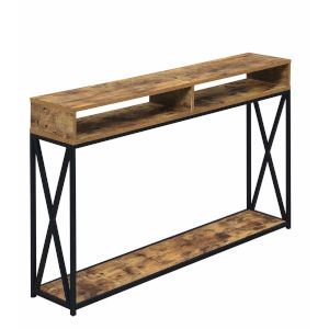 Tucson Barnwood Particle Board Two Tier Console Table