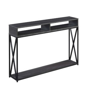 Tucson Charcoal Gray and Black Console Table
