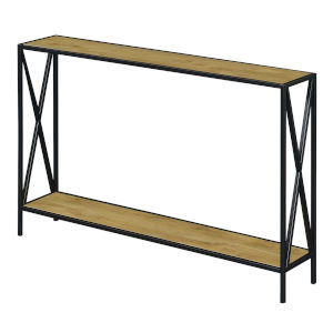 Tucson English Oak and Black Console Table