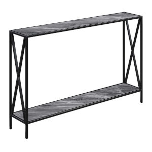 Tucson Gray and Black Console Table