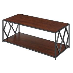 Diamond Cherry Black Particle Board Coffee Table