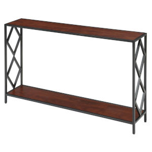 Diamond Cherry Black Metal Console Table