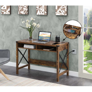 Durango Barnwood Black Office Desk