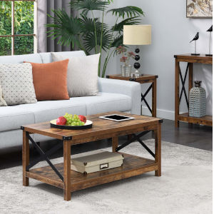 Durango Barnwood Black Accent Coffee Table