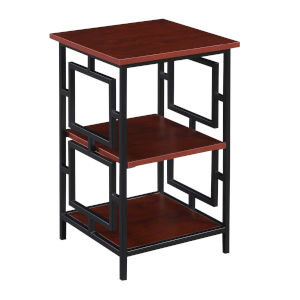 Town Square Cherry and Black End Table