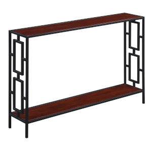 Town Square Cherry and Black Console Table